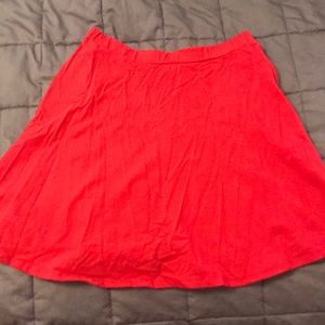 Red Nordstrom skirt